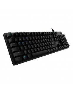 Logitech G 512 RGB Backlit Mechanical Gaming Keyboard with GX Blue Clicky Key Switches (Carbon)