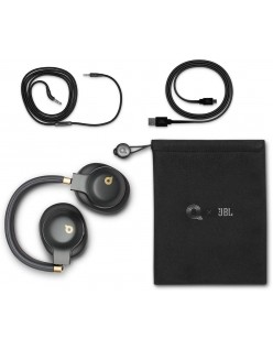 JBL E55BT Quincy Edition Wireless Over-Ear Headphones with One-Button Remote and Mic (Black)