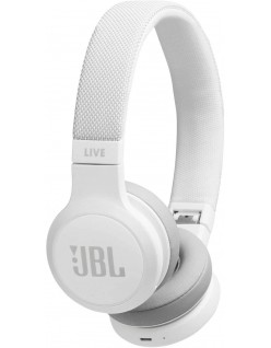 JBL Live 400BT by Harman Wireless On-Ear Voice Enabled Headphones with Alexa (White)