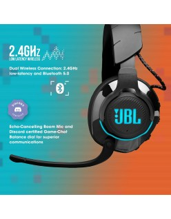 JBL Quantum 800 Wireless Over-Ear Professional Gaming Headset with Active Noise Cancellation, Quantum Surround, Bluetooth 5.0 & Lossless 2.4GHz Wireless - Black (Hi-Res & Discord Certified)