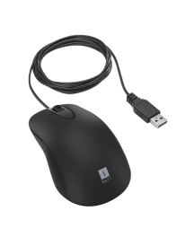 iBall Turbo, Advanced High-Speed Optical Mouse, Wired, 1200 CPI, Superfast Speed, Black