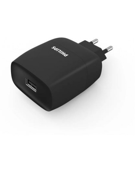 PHILIPS DLP2501B 10.5 W 2.1 A Mobile Charger  (Black)